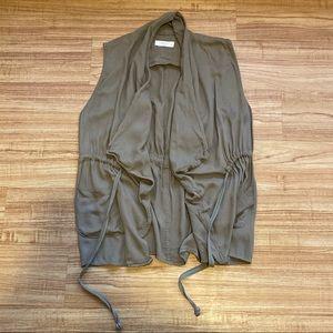 Elodie Army Green Drawstring Utility Vest